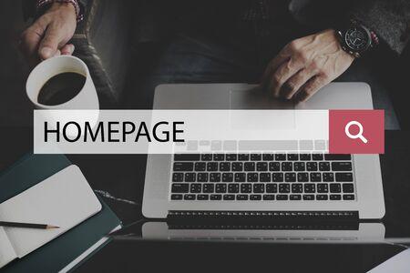 Homepage Web Site Domain Concept
