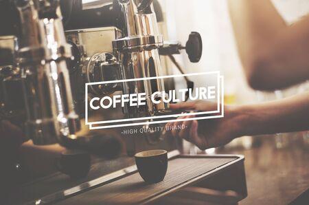 Coffe Cultura Pausa Relajación Cafe Concepto Foto de archivo