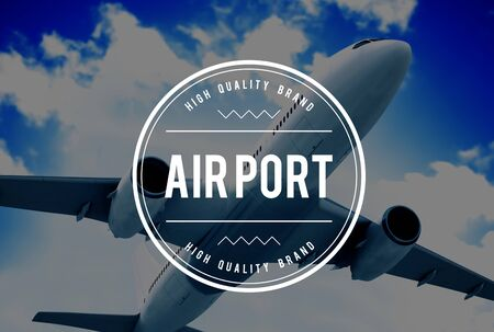 airborne vehicle: Airport Airplane Flight Destination Concept