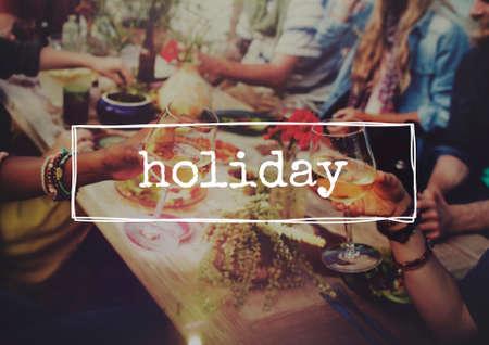 santa cena: Concepto de vacaciones de vacaciones Aniversario Festival de las vacaciones