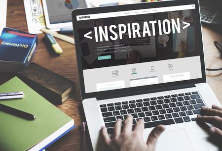 inspiring: Inspire Inspiring Inspiration Motivate Innovate Concept Stock Photo