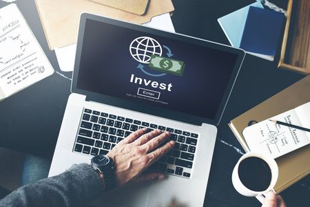 invest: Invest Fund Banking Savings Business Concept