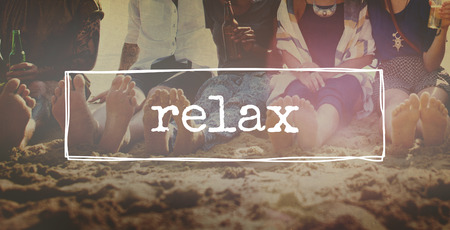 chill out: Friends Beach Vacation Party Chilling Concept