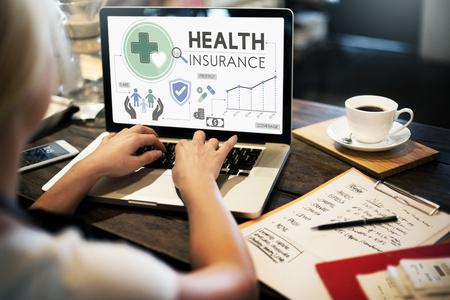 Seguro de Salud Assurnace Médico Concepto de seguridad Riesgo Foto de archivo - 55162849