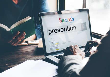 prevent: Prevention Preventing Prevent Stopping Symptoms Concept