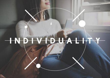 individuality: Individuality Originality Travel Freedom Lifestyle Concept