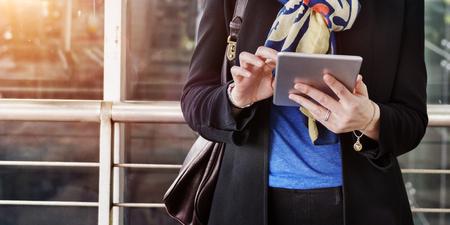 transit: Transfer Transit Flight Digital Device Connecting Concept Stock Photo