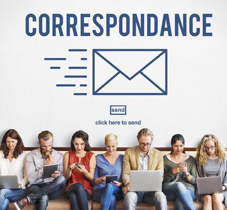 correspondencia: Concepto de mensajer�a en l�nea correspondencia por correo electr�nico de conexi�n