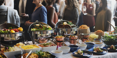 Food Buffet Catering Dining Eating Party Sharing Concept Stock fotó