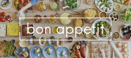 bon: Bon Appetit Delicious Enjoy Gourmet Joy Tasty Concept Stock Photo