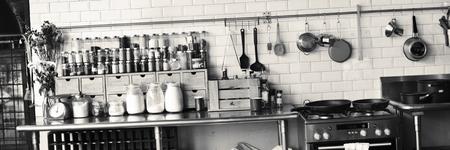 Cocina contemporánea aparato de cocina Especias Concept Foto de archivo - 55434236