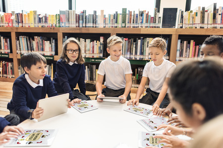 School Teacher Teaching Students Learning Concept Stock Photo