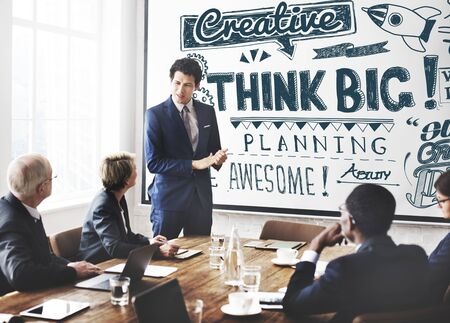 optimism: Think Big Attitude Believe Optimism Concept Stock Photo
