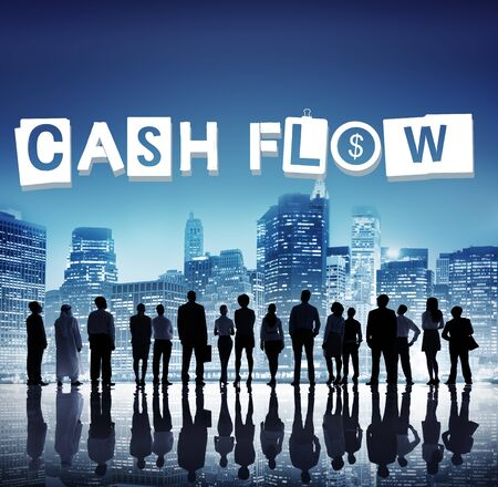 man rear view: Cash Flow Money Currency Economy Finance Investment Concept Stock Photo