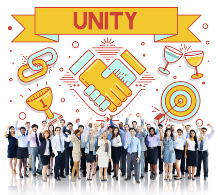 african solidarity: Unity Teamwork Cooperation Collaboration Concept Stock Photo