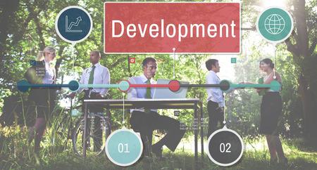 rural development: Development Growth Progress Icon Concept