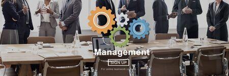Business Management Stratégie Page d'accueil Concept Banque d'images
