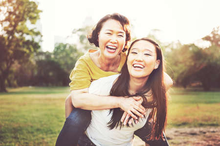 Daughter Mother Adorable Affection Casual Life Concept Stock Photo