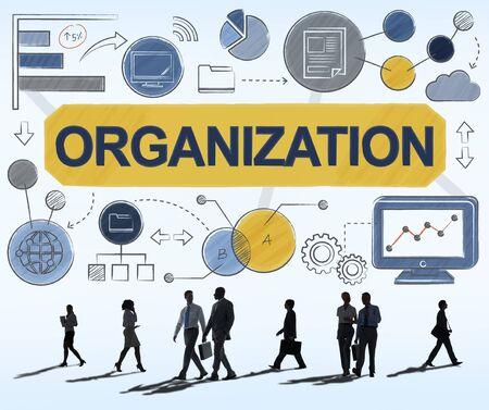 organization: 조직 관리 구조 기업 팀 개념 스톡 콘텐츠