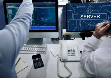 hectic: Server Online Technology Storage Software Concept