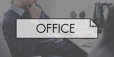 Office banner concept Reklamní fotografie