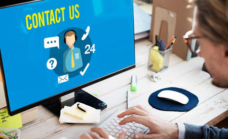 contact us: Ask us Contact us Customer Service Concept