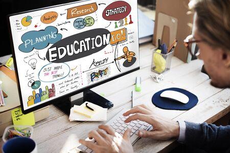 Education School Studies Learning Graphics Concept Reklamní fotografie