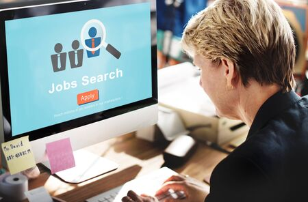 place of employment: Jobs Search Applicant Career Employment Hiring Concept Stock Photo