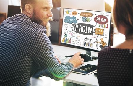 to imagine: Imagine Imagination Expect Creative Sketch Concept