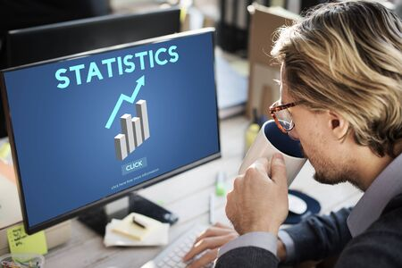 business analysis: Statistics Analysis Business Data Diagram Growth Concept Stock Photo