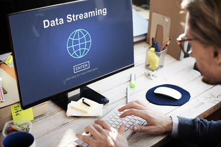 streaming: Data Streaming Online Internet Technology World Concept Stock Photo