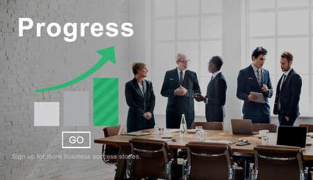 increasing: Progress Change Growth Development Improvement Concept