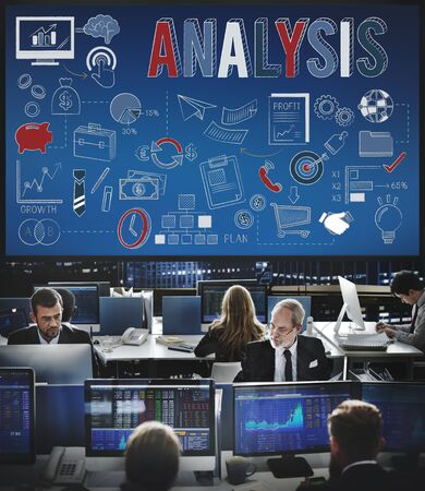reseach: Analysis Information Insight Strategy Concept Stock Photo