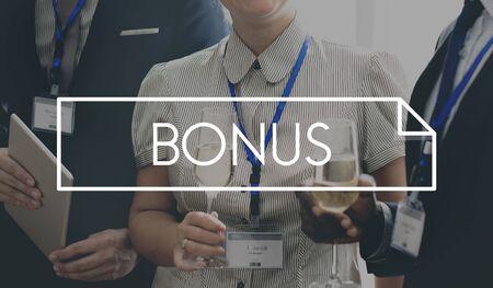 additional compensation: Bonus Profit Gain Monet Reward Benefit Concept
