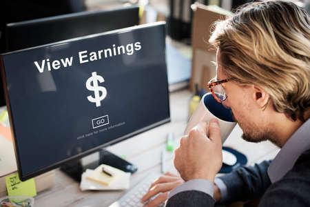 earnings: View Earnings Money Accounting Financial Concept