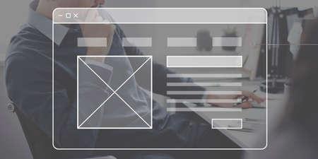 Homepage Interface Website Network Concept Фото со стока