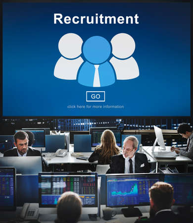 hectic: Recruitment Hiring Employment Human Resources Concept