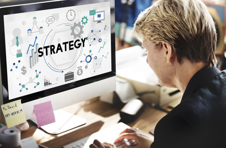 Strategy Tactics Vision Solution Process Concept Stock Photo