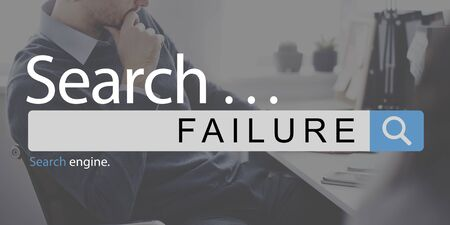 failed strategy: Failure Loss Depression Unsuccessful Concept Stock Photo