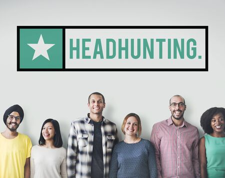 manpower: Headhunting Manpower Jobs Human Resources Concept