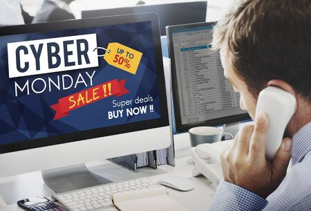 special service agent: Cyber Monday Sale Discount Clearance Sale Concept