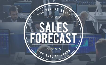 forecasting: Sales Forecast Forecasting Future Investment Concept Stock Photo