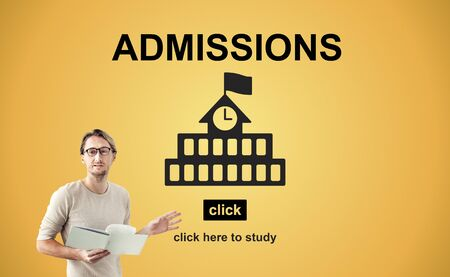 admissions: Admissions Education Knowledge University Academic Concept