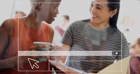 friendship women: Women Diversity Female Friendship Concept Stock Photo