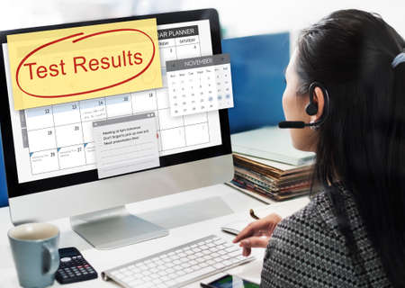 customer records: Test Results Report Research Examination Concept
