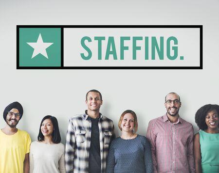 manpower: Staffing Employee Human Resources Manpower Concept Stock Photo