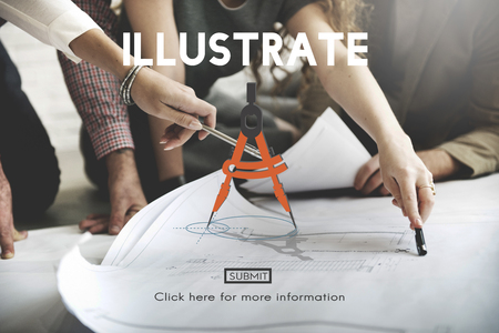 illustrate: Illustrate Draw Imagination Creativity Inspiration Concept