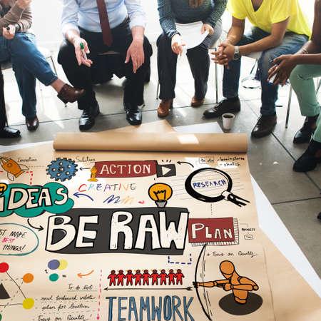 unique concept: Be Raw Creativity Fresh Ideas Desigb Unique Concept