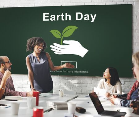 environmental conservation: Earth Day Environmental Conservation Website Online Concept