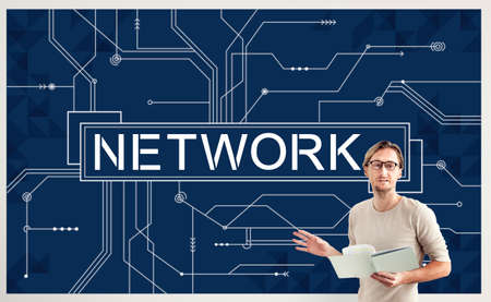 social system: Network Social System Computer Connection Web Concept